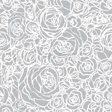 seamless pattern with flowers roses vector floral illustration in