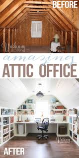 25 best attic spaces ideas on pinterest attic rooms attic attic turned office renovation not for the attic but i like the shelving for craft