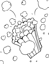 popcorn coloring page handipoints