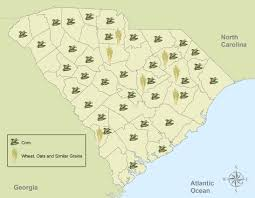 Map Of North And South Carolina Crop Growth In Sc