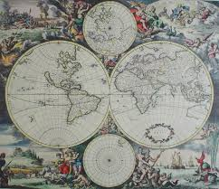 Old World Maps by Unknown U2013 Old World Map With Arctic Poles Kerrisdale Gallery