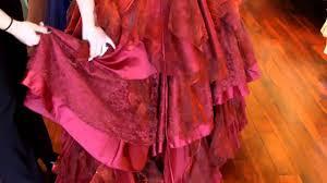 red corset wedding dress youtube