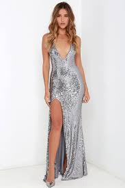 entice and everything nice silver backless sequin maxi dress