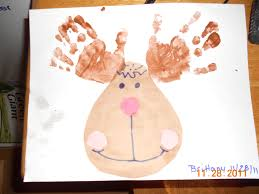 25 days of christmas crafts day 2 handprint rudolph reindeer