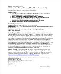 cover letter for dean position research assistant cover letter example