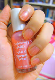 so loverly loving sally hansen hard as nails in strawberry icing