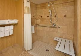roll in shower with bench home and estate home accessibility