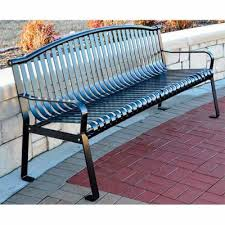 Commercial Grade Park Benches Coated Metal Benches Metal Outdoor Benches National Outdoor