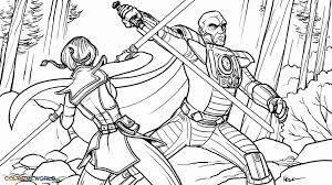 clone wars commander coloring pages coloring