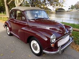 classic volvo convertible classic chrome morris minor 1000 convertible 1969 g maroon