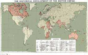 British India Map by British Empire