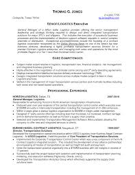 Sample Management Resumes by Senior Logistic Management Resume Senior Logistics Executive In