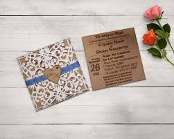 Customized Wedding Invitations Wooden Engraved Wedding Invitation U0026 Laser Cut Envelope U2013 The