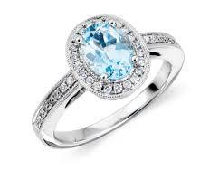 aquamarine engagement rings aquamarine and diamond ring in 18k white gold 8x6mm blue nile