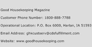 goodhousekeeping com good housekeeping magazine customer service phone number contact