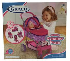 Graco Baby Doll Furniture Sets by Graco Dynamo Pram For 18 Inch Doll Toys