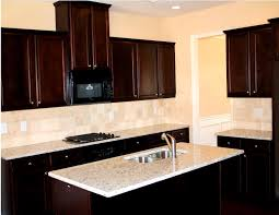Kitchen Backsplash Ideas For Dark Cabinets Dark Kitchen Cabinets With Wood Floor Luxury Home Design