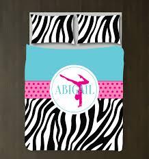 Zebra Print Duvet Cover Zebra Print Gymnastics Bedding Girls Duvet Cover U2013 Shop Wunderkinds