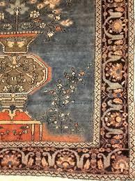 Antique Rug Appraisal Rare Ice Sky Blue U0026 Coral Fine Sarough Tree Of Life Persian
