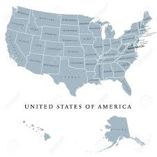 map of us states political usa united states of america political map with capital washington