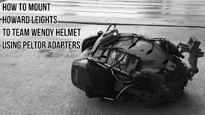 best helmet mounted light mount howard leights to team wendy using pelter adapters youtube