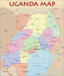 Map Of Us States And Cities by Uganda Political Map Uganda U2022 Mappery