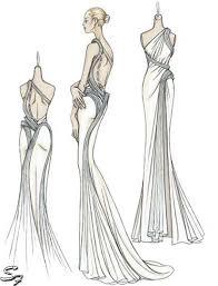 drawn fashion clothing design pencil and in color drawn fashion