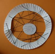 halloween kids u0027 craft paper plate spider web mommysavers