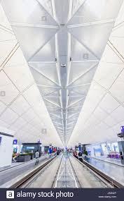 china hong kong hong kong international airport departure stock