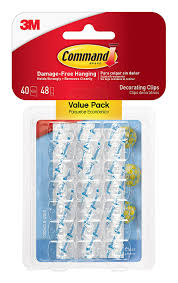 command decorating clips white 40 clips 17026 40es utility