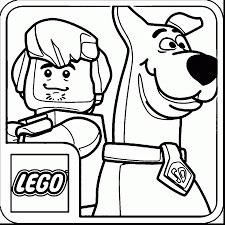 scooby doo lego coloring pages
