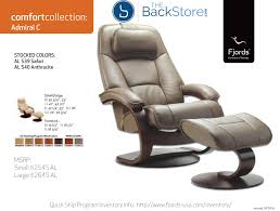 Recliners With Ottoman by Fjords Admiral Recliner With Ottoman