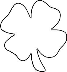 4 leaf clover template four leaf clover outline free clip free clip
