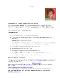 Asp Net Resume Sample by Asp Net Mvc Developer Resume Free Resume Example And Writing