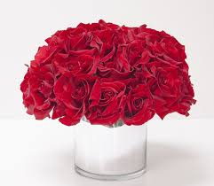 Red Flowers In A Vase Seattle Florist Flower Delivery By Acorn Floral