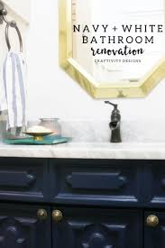 navy and white bathroom renovation u2013 craftivity designs