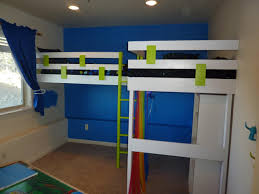 Ceiling Design For Bedroom For Boys Bedroom Dazzling White Wooden Bunk Beds Design And Blue Wall