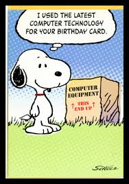 free snoopy peanuts crisp new birthday greeting card w envelope