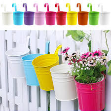 candy metal iron flower pot hanging balcony garden plant planter does not apply