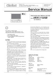 clarion pn 2530h pn 2532d pn 2548n sm service manual download