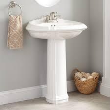 Large Pedestal Sinks Bathroom Amias Porcelain Pedestal Sink Bathroom