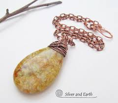 natural jade necklace images Gold jade pendant necklace on copper chain natural stone jewelry jpg
