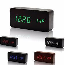 Wohnzimmer Uhren Holz Zuhause Krankenbett Schweigen Uhren Digitale Grüne Led Uhr Holz