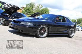 late model restoration mustang black sn95 cobra with true forged wheels at mustang week 2 flickr