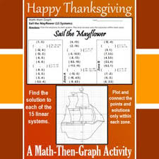 sail the mayflower a math then graph activity solve 15 systems