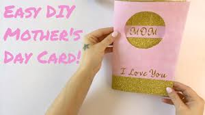 Diy Mother S Day Card by Easy Diy Mother U0027s Day Card 7 Days 7 Cards Day 6 Youtube