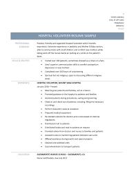 Resume Examples For Volunteer Work by Volunteer Resume Samples Food Service Resume Samples Visualcv