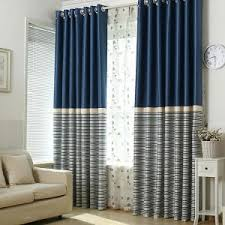 Blue And Striped Curtains Home Decor Beautiful Color Block Curtains For Your Interior