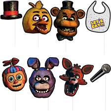photobooth props five nights at freddy s photo booth props 8ct walmart