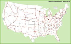 Map Of United States Of America by Usa Interstates Map